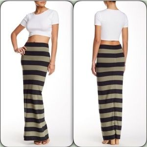 Free people Rugby Striped column maxi skirt